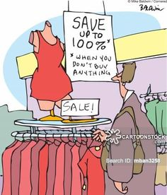 Sale! Save up to 100% *when you don't buy anything - Mike Baldwin Cartoon