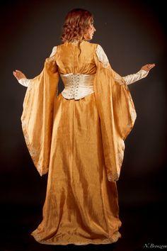 03cadbb4f3a Elven dress fantasy dress longsleeved dress larp costume