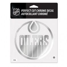 Edmonton Oilers Decal 6x6 Perfect Cut Chrome #EdmontonOilers