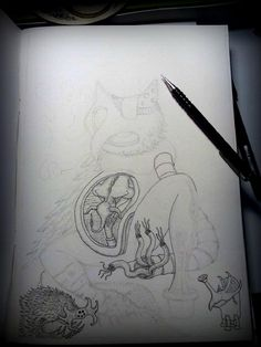 Laz at work-Working on owlrobot thing(no official title yet) by lazaros.kalogirou on YouPic Fine Art, Art, Photo, Title