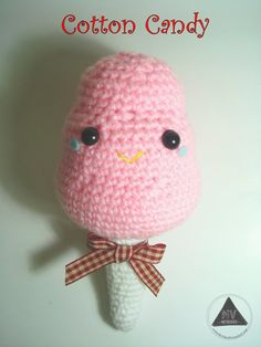 Amigurumi Food: Cotton Candy - Free Pattern here: http://nvkatherine.deviantart.com/art/Cotton-Candy-amigurumi-FREE-PATTERN-TUTORIAL-452148426