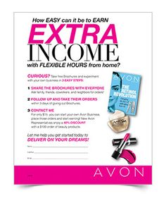 Spring Ahead To Success Avon Representative Be Your Own Boss How Make Money