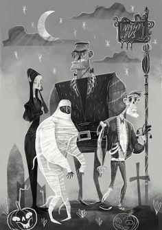 karl james mountford Illustration halloween