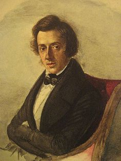 Frederic Chopin: portrait at age 25 by Maria Wodzinska. Frederic Chopin (1810-1849) was born in Poland and settled in France. He was a very skilled pianist, and composed some exquisite music for that instrument. His piano pieces include Preludes, Etudes, Waltzes, Impromptus, Ballades, Nocturnes and Scherzos, as well as Mazurkas and Polonaises based on Polish dance forms.