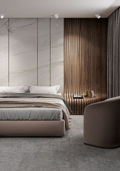 F O G on Behance Master Bedroom Interior, Modern Bedroom Design, Master Bedroom Design, Morden Bedroom, Hotel Room Design, Round Beds, Interior Design Images, Villa, Aesthetic Bedroom
