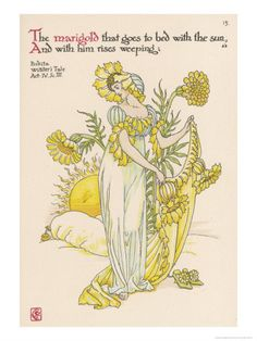 Marigold Personified    by Walter Crane Item #: 1863403