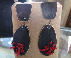 Brass earrings by Flora...