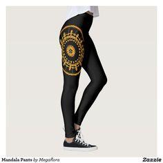 Mandala Pants By Megaflora Design  # #megaflora #megafloradesign #mandala #rave #yoga #pants #fashion #musicfestival #outfit #cute #boho #unique #zazzle