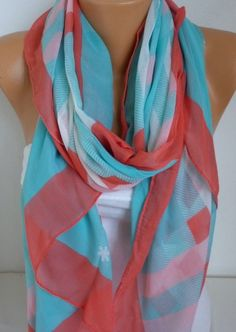 ON SALE -Valentine's Day Scarf - Cotton Scarf Shawl Bridesmaid Gift  Multicolor Beach wrap Pareo -fatwoman