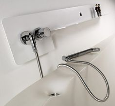 Trendir - Home Decorating Trends magazine - Bathroom Shelf and Faucet Combination by WET - Fold
