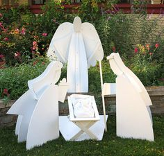 Four Piece Outdoor Christmas Nativity Scene by TreeAngle