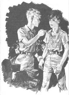 Le bracelet de vermeil (Et Christian D'Ancourt) Prince Eric, Norman Rockwell, Boy Scouts, Creepy Comics, Getting Spanked, Old Paintings, Vintage Magazines, Gay Art, Vintage Comics