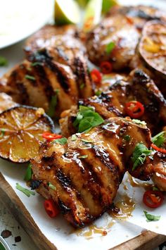 Thai Grilled Chicken (Gai Yang) - authentic flavours from the streets of Thailand! easy to make on your BBQ or stovetop. Thai Grilled Chicken (Gai Yang) - authentic flavours from the streets of Thailand! easy to make on your BBQ or stovetop. Thai Grilled Chicken, Grilled Chicken Recipes, Thai Chicken Marinade, Chicken Marinades, Thai Bbq Chicken Recipe, Chicken On The Grill, Bbq Marinade, Barbecue Chicken, Chinese Cooking Wine