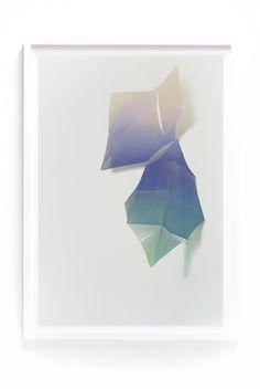 Two Diamond Gradient screenprint by Print Club Ltd.