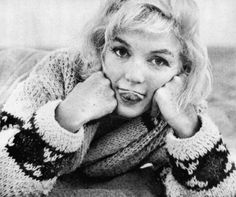 Marilyn, by George Barris. I have always wanted a sweater like this because of this set of photos on the beach
