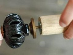 "DIY Drawer Knobs and Curtain Rods: A dowel, some ""t-nuts"", and BAM! instant curtain rod you can paint whatever color you want and the finials will match your room hardware! Do It Yourself Decoration, Do It Yourself Design, Do It Yourself Inspiration, Do It Yourself Home, Creative Inspiration, Do It Yourself Furniture, Diy Furniture, Furniture Design, Painted Furniture"