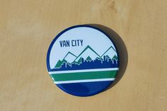 Van City Vancouver Skyline 2 Inch Button by SaavyInc on Etsy Vancouver Skyline, Vancouver Canucks, Skyline 2, Make And Sell, How To Make, Buttons, City, Knots, Plugs