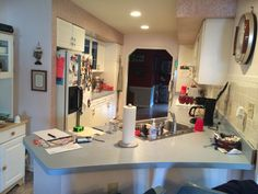 Before photo of kitchen.