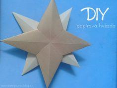 DIY Papírová hvězda