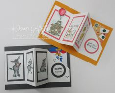 Fun Fold Cards, Folded Cards, Cool Cards, Birthday Gift Cards, Handmade Birthday Cards, Dawn Griffith, Dawns Stamping Thoughts, Gift Cards Money, Slider Cards