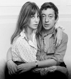 Jane Birkin and Serge Gainsbourg Art Print by Anonymous Easyart.com