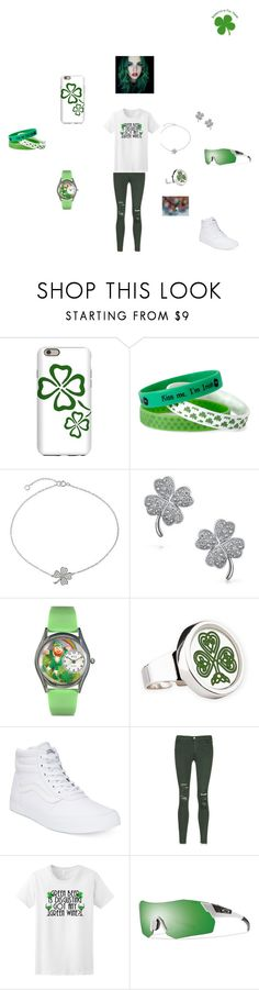 """""""HAPPY ST. PATRICK DAY"""" by theultrafighter ❤ liked on Polyvore featuring Mixit, Bling Jewelry, Vans, J Brand and Smith"""