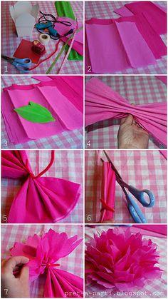 Tissue Paper Peony - perfect decoration :)