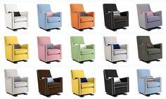 Luca Glider, what color will you choose? Monte Design Luca Glider - Modern Nursery Furniture