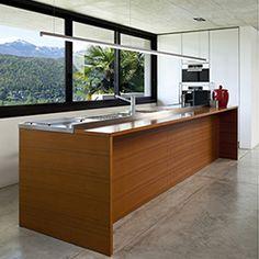 customizable linear LED lighting | Modern kitchen lighting idea | Cirrus LED Linear Suspension Light - by Edge Lighting