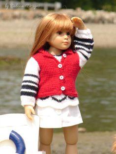 OOAK-HandKnitted-Jacket-Tunic-for-Kidz-n-Cats-dolls-Mini-Kidz-Matching-Tunic