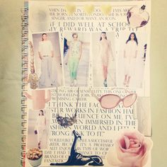 DIY Notebook: Just cut images you like from any magazine and put them together!