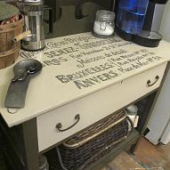 DIY: Coffee Station From Recycled Drawers...