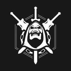 Vector Serigrafia Masters of Destiny - Destiny - T-Shirt He Man Tattoo, Bold Logo, Desenho Tattoo, Flash Art, Thundercats, Classic Cartoons, Comic Sans, Sports Logo, Skull Art