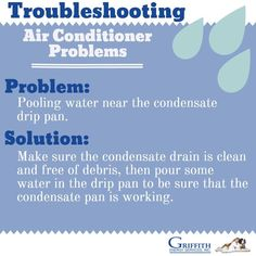 If your home is more humid than normal or you notice water pooling near the condensate pan, there may be a problem with the condensate pump or the drain. Fix it with these tips: