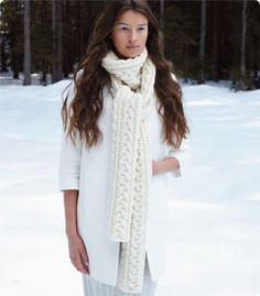 Debbie Bliss Cabled Scarf free pattern