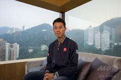 香港(Hong Kong)のホテルでインタビューに応じる錦織圭(Kei Nishikori、2014年9月19日撮影)。(c)AFP/XAUME OLLEROS ▼20Sep2014AFP錦織、李娜の引退受け「自分がアジアのリーダーに」 http://www.afpbb.com/articles/-/3026513 #Kei_Nishikori
