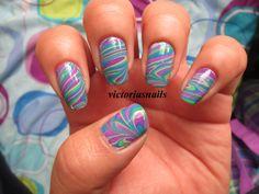 Water marble nails / nail art