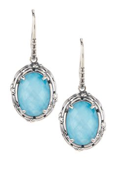 Sterling Silver Turquoise Doublet Drop Earrings. My girlfriend would like these a lot I do believe..