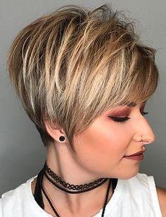 Chic Short Hair, Short Choppy Hair, Short Thin Hair, Short Grey Hair, Short Hair With Bangs, Short Hair With Layers, Short Hair Cuts For Women, Short Hair Styles, Long Pixie Hairstyles