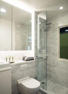 Dwell On Design, Tiny Houses, Bathroom Lighting, Bathrooms, Mirror, Furniture, Home Decor, Bathroom Light Fittings, Homemade Home Decor