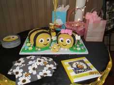 The hive themed party buzzbee and rubee cakes
