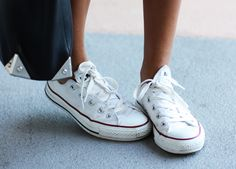 There are those sneakers again... Converse.  From Sincerely, Jules