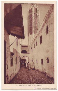 Tetuán (Protectorado español en Marruecos): Torre de una Mezkita. L. Roisin. No circulada (Años 30) - Foto 1
