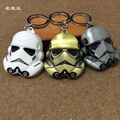 Fashion Star Wars Keychain StormTrooper Helmet storm trooper pendant Key chain ring keychains Darth Vader Mask superhero Keyring #Affiliate