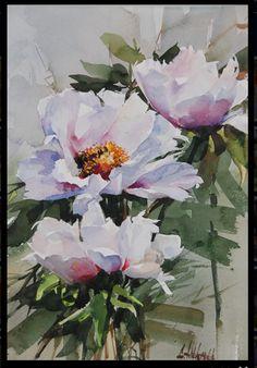 Watercolor Cards, Watercolor Flowers, Watercolour Paintings, Watercolor Landscape, Flower Art, Amazing Art, Rabbi, Google, Silk Painting