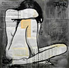 "Saatchi Online Artist: Loui Jover; Pen and Ink 2013 Drawing ""lamentation (SOLD)"""