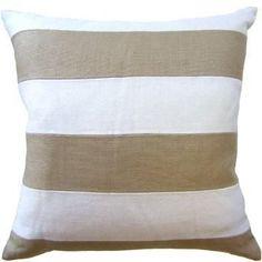 Slubby Linen Stripe Pillow 22x22 - Ryan Studio