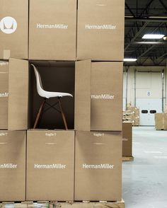 The Herman Miller Sale ends tonight! Shop now for your final chance to save on Eames Noguchi Nelson and more! Display Design, Booth Design, Store Design, Furniture Showroom, Furniture Design, Furniture Packages, Showroom Design, Exhibition Display, Arquitetura