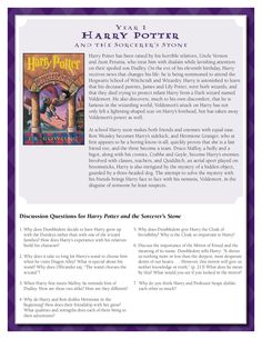 Discussion Guide for Harry Potter and the Sorcerer's Stone by J.K. Rowling.    Download by clicking image above!    For more information visit www.scholastic.com/hpread