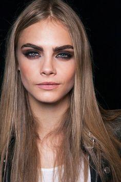 Brownish Black Smokey eye Makeup Trend for Spring Summer 2013. Dsquared2 Spring Summer 2013. #smokey #makeup #trends
